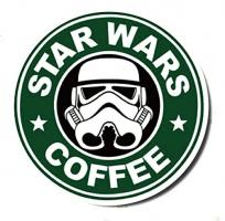 Nálepka na auto - Star Wars coffee